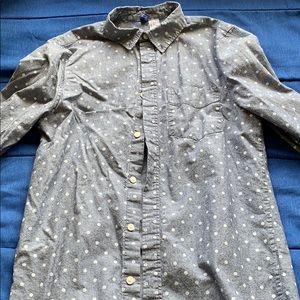 Gray Longsleeve Polkadot Shirt